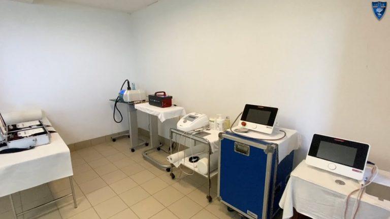 U.S. Lecce: lo staff sanitario nel ritiro di Folgaria